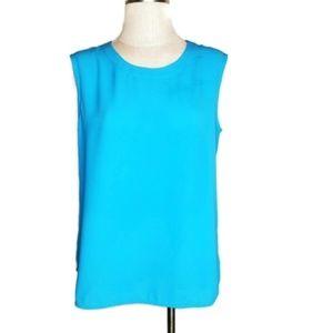 Anne Klein Sleeveless Blouse Pull On Size 10